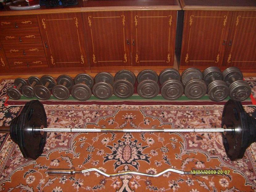 Bardzo dobra siłownia Hantle-Ławeczka -Zestaw Olimpijski-Gryf Łamany Chełm GY03